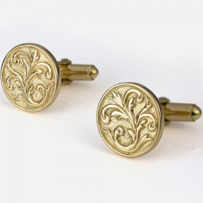 'Florão' cufflinks in yellow gold
