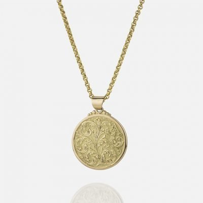 Large 'Florão' cordon and medallion in yellow gold