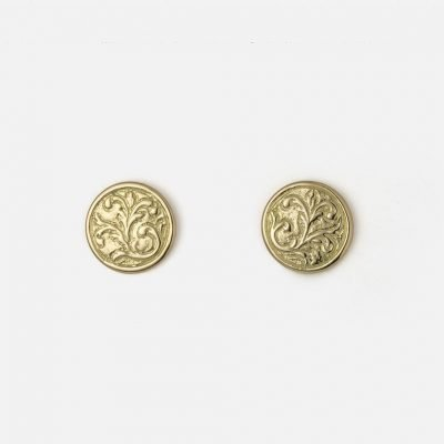 Pair of 'Florão' earrings in yellow gold