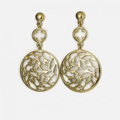 Pair of 'Promessa de Amor' earrings in yellow gold