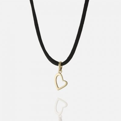 'Heart Links' pendant in yellow gold
