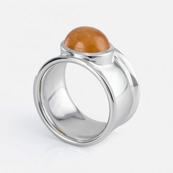 """Candies"" ring in yellow gold with mandarin."