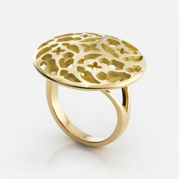 """Promessa de Amor"" ring in yellow gold."