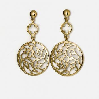 "Pair of ""Promessa de Amor"" earrings in yellow gold."