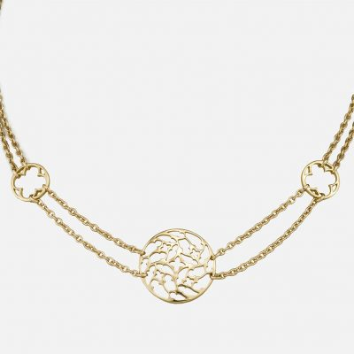 """Promessa de Amor"" necklace in yellow gold."