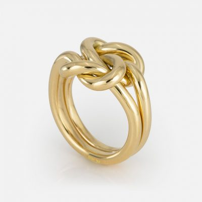 'Knot Me' ring in yellow gold