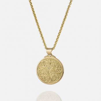 "Large ""Florão"" cordon and medallion in yellow gold."