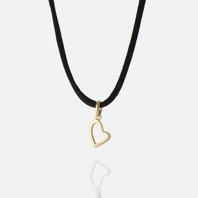 """""""Heart Links"""" pendant in yellow gold."""