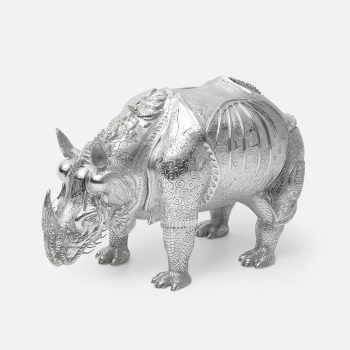 "Giant chased silver ""Rhinocerus 1515"""