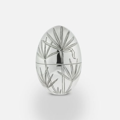 """2010 """"Papyrus"""" silver egg."""