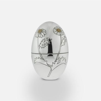 2009 'Camomile Flower' silver egg