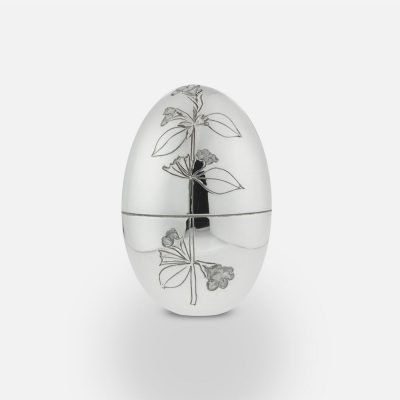2009 'Lemon Balm Flower' silver egg