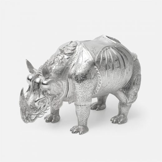 Giant chased silver 'Rhinocerus 1515'