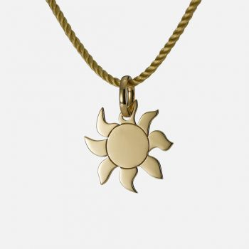 """Shine"" pendant in yellow gold."