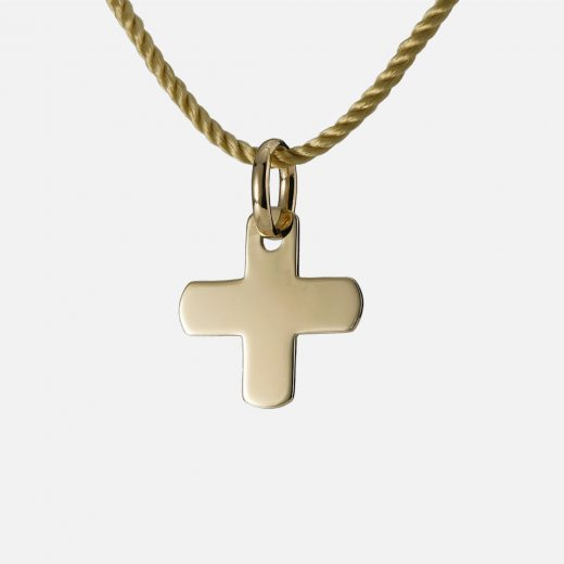 """""""Blessing"""" pendant in yellow gold."""