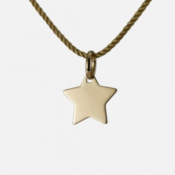 """Be a Star"" pendant in yellow gold."