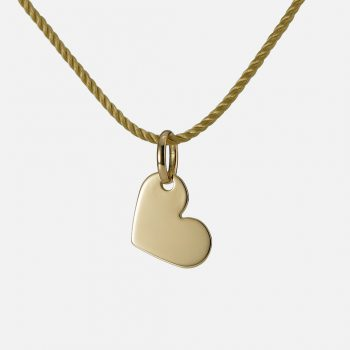 """All my Love"" pendant in yellow gold."