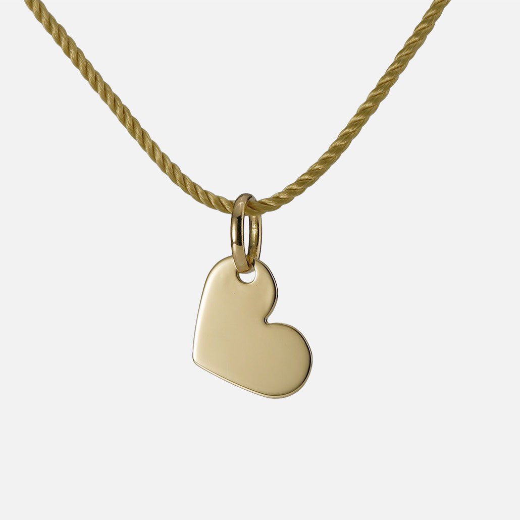 """""""All my Love"""" pendant in yellow gold."""