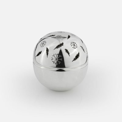 'Winter' silver pomander ball