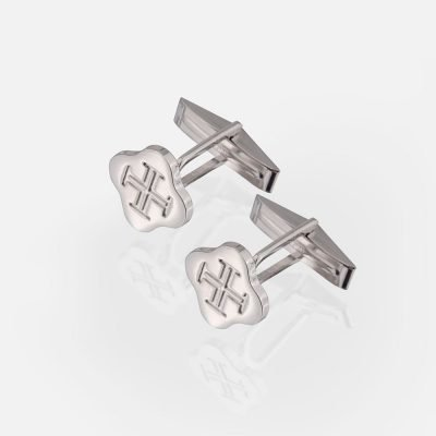 'Boa Esperança' white gold cufflinks