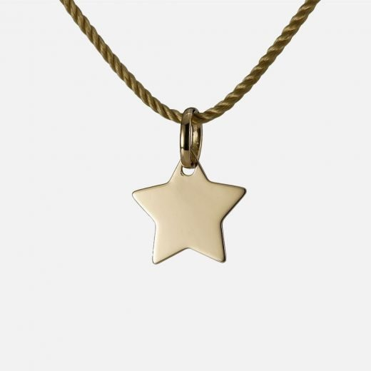 'Be a Star' pendant in yellow gold
