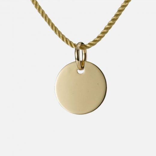 'I Wish You...' pendant in yellow gold