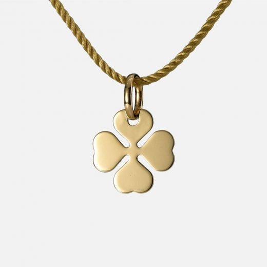 'Luck' pendant in yellow gold