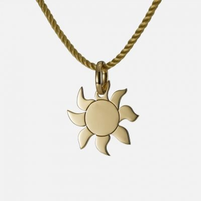 'Shine' pendant in yellow gold