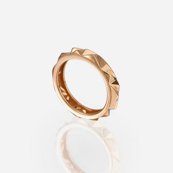 'Les Pyramides' ring 4 mm in rose gold