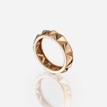 'Les Pyramides' ring 5 mm in rose gold