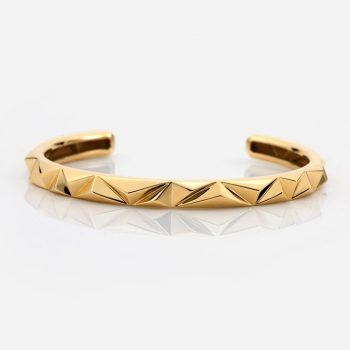 'Les Pyramides' bracelet in yellow gold