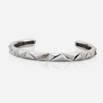 'Les Pyramides' bracelet in white gold