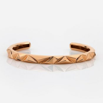 'Les Pyramides' bracelet in rose gold