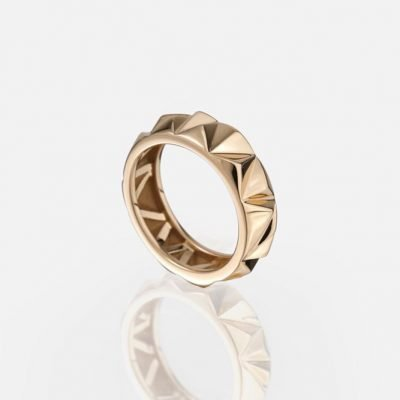 'Les Pyramides' ring in rose gold