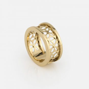 """Azulejo Português - Uptown"" ring in yellow gold"