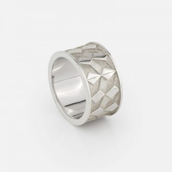 """Azulejo Português - Downtown"" ring in silver."