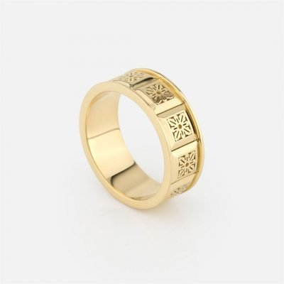 'Azulejo Português – Alecrim' ring in yellow gold