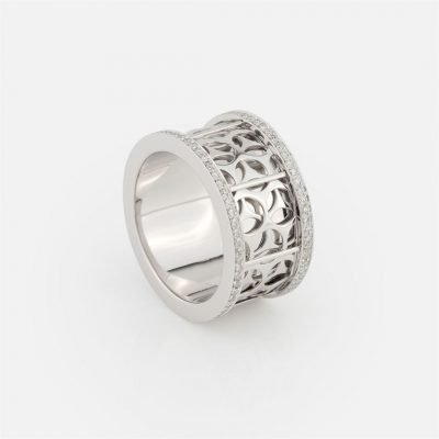 'Azulejo Português – Uptown' ring in white gold with diamonds