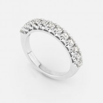 """Forever"" ring in white gold with 12 diamonds"