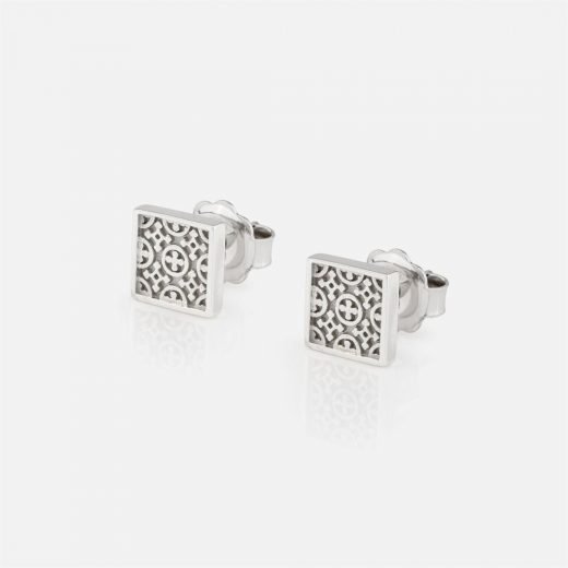 'Azulejo Português - Costa do Castelo' pair of earrings in silver