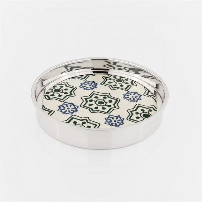 Coaster 'Santa Catarina' in silver with portuguese tile