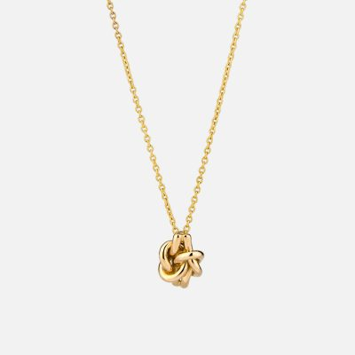 'Knot Me' necklace in yellow gold