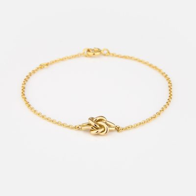 'Knot Me' bracelet in yellow gold