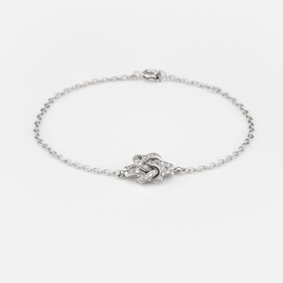 'Knot Me' bracelet in white gold whit diamonds