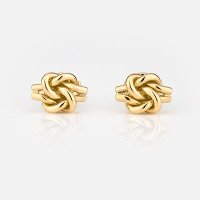 'Knot Me' earrings in yellow gold