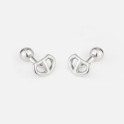 """Love Link"" cufflinks in silver"