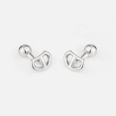 'Love Link' cufflinks in silver