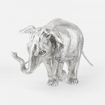 """Hanno"" elephant in chased silver"