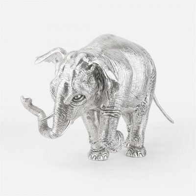 'Hanno' elephant in chased silver