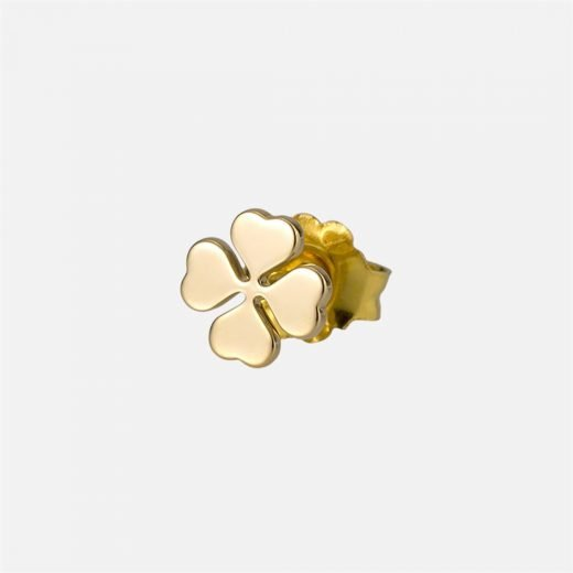 'Luck' individual earring in yellow gold